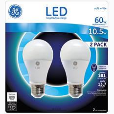 GE LED 10.5-Watt General Use Bulb (2 pk.)