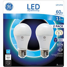 GE 11 Watt LED General Use Bulb (2-pack)