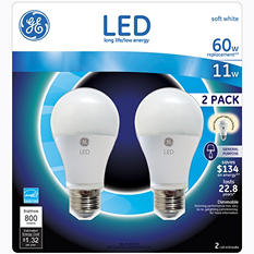 GE LED 11-Watt General Use Bulb (2 pk.)