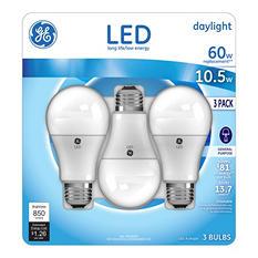 GE 10.5 Watt LED Daylight General Use Bulb (3 pk.)