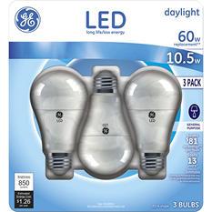 GE 10.5-Watt Equivalent Daylight General-Purpose LED Light Bulbs (3 pk.)