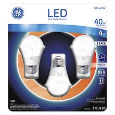GE 4 Watt LED Soft White A15 Ceiling Fan Bulb (3-pk)