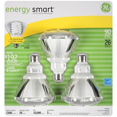 GE Indoor/Outdoor Floodlight - 3/26 watt bulbs