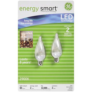 GE energy smart® LED 2 Watt Decorative Bulbs - 2 pk.