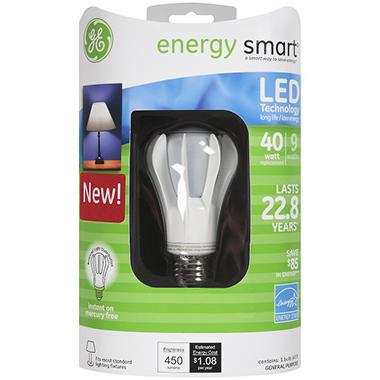 GE energy smart® LED 9 Watt General Purpose Bulb - 1 ct.