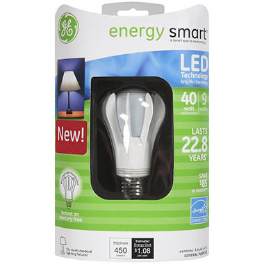 GE energy smart® LED 9 Watt General Purpose Bulb - 1 ct.