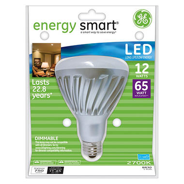 General Electric Energy Smart� LED BR30 Dimmable Floodlight - 65 Watt Equivalent