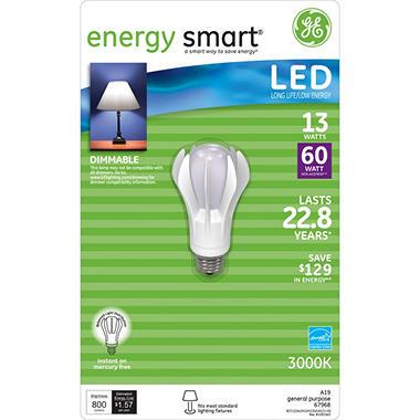 13 Watt LED General Use Bulb -  Replaces 60 Watt Light Bulb - 1 pk.