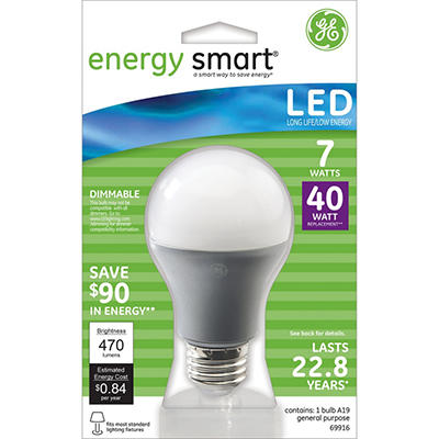7 Watt LED - Replaces 40 Watt