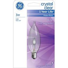 18-Pack GE 3 Watt Flicker Flame Small Base Decorative Bulb