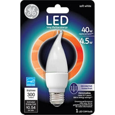 GE LED 4.5 Watt Soft White Frosted Decorative Bulb (6 pack)