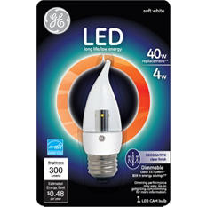 6-Pack GE LED 4 Watt Soft White Clear Decorative Bulb