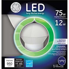 3-Pack GE LED 12 Watt PAR38 Bright White Outdoor Floodlight