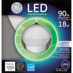 GE LED 18 Watt PAR38 Bright White Outdoor Floodlight (3 pack)