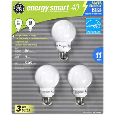 GE Energy Smart™ 40 CFL Bulbs - 3 pk.