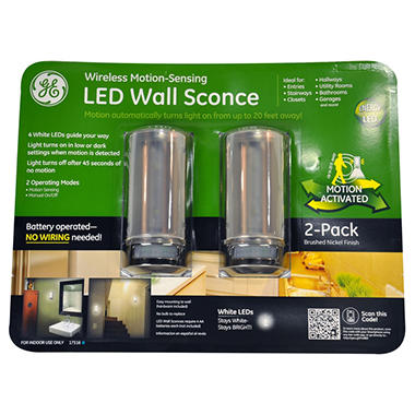 GE LED Motion Sensing Wall Sconce