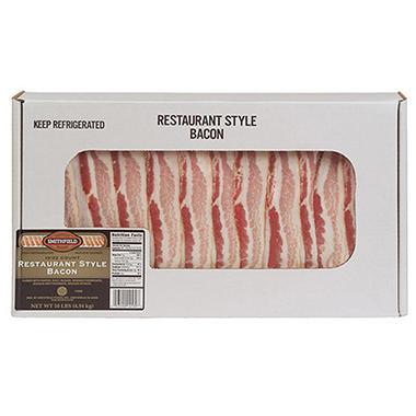 Smithfield® Restaurant Style Bacon -  10 lb. bx.