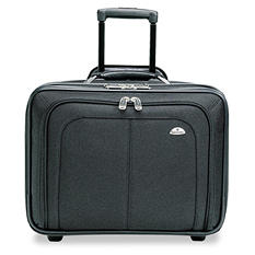 Samsonite Mobile Office Notebook Case, Nylon, 17-1/2 x 9 x 14, Black