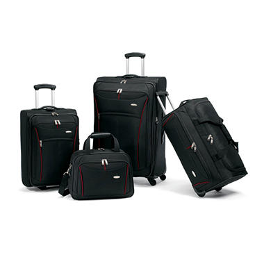 Samsonite Luggage 4 Piece Set - Black