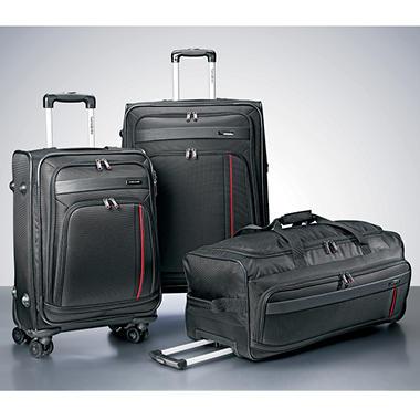 Samsonite 3 Piece Luggage Set - Black