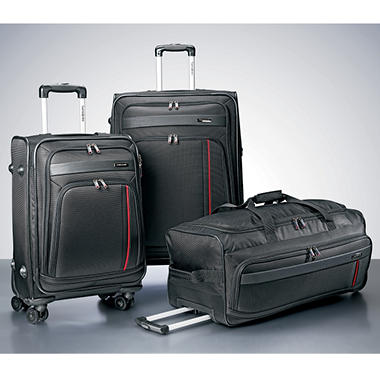 Samsonite 3 Piece Luggage Set - Black