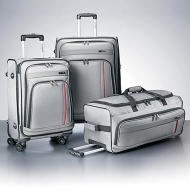 Samsonite 3 Piece Luggage Set - Silver