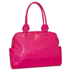 Buxton - Femme Floral Ladies Computer Tote, Faux Leather, 17 x 3-1/2 x 12 -  Pink