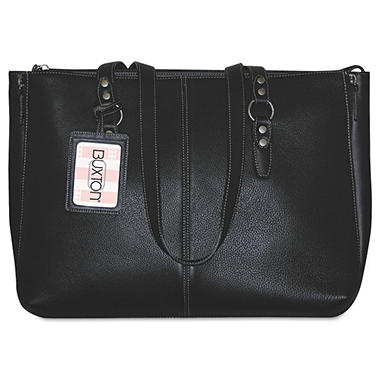 Buxton Madison Tote, Genuine Leather, Black