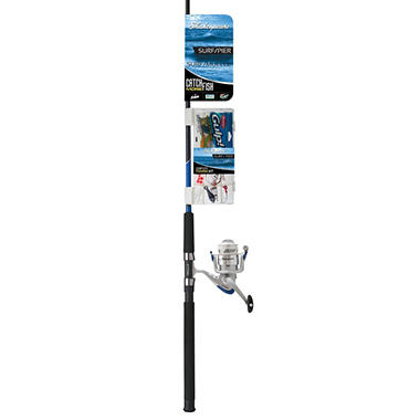 Shakespeare Catch More Fish Surf/Pier Spinning Combo with Tackle Pack