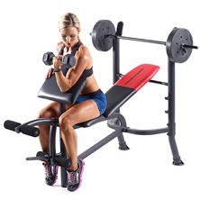Weider® Pro 265 Standard Bench with Weight Set