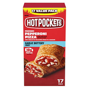 Hot Pockets Sandwiches, Pepperoni Pizza (4.5 oz. ea., 17 ct.)