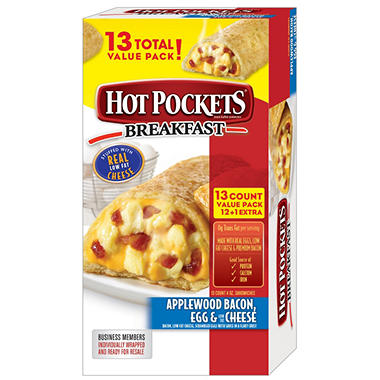 Hot Pockets® Applewood Bacon, Egg & Low Fat Cheese Breakfast Stuffed Sandwiches - 4 oz.