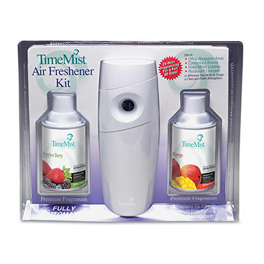 TimeMist Metered Aerosol Fragrance Dispenser Starter Kit with 2 Refill