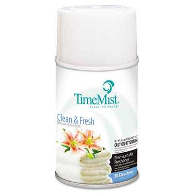 TimeMist Metered Aerosol Dispenser Refill - Clean & Fresh - 12 refills