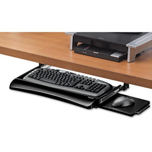 Fellowes - Office Suites Underdesk Keyboard Drawer, 20-1/8w x 7-3/4d -  Black