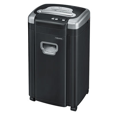 Fellowes Powershred 460Ms Heavy-Duty Micro-Cut Shredder, Black/Silver