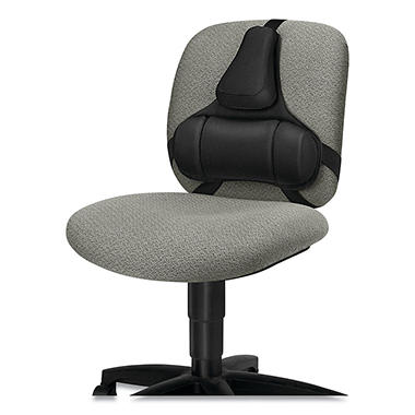 Fellowes Professional Series Back Support, Memory Foam Cushion - Black