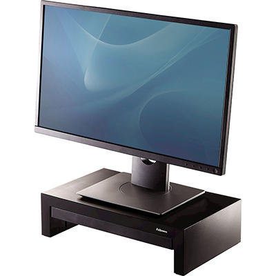 Fellowes - Adjustable Monitor Riser with Storage Tray, 16 x 9 1/2 x 4 1/2-6 -  Black