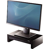Fellowes - Adjustable Monitor Riser with Storage Tray, 16 x 9 3/8 x 6 -  Black Pearl
