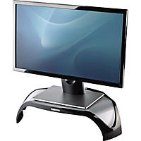 Fellowes - Smart Suites Corner Monitor Riser, 18 1/2 x 12 1/2 x 5 1/8 -  Black