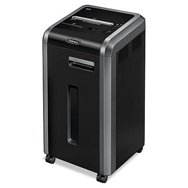 Fellowes Powershred 225i Continuous-Duty Strip-Cut Shredder - 20 Sheet Capacity