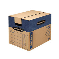 Bankers Box SmoothMove Fast Assembly Tape-Free Moving and Storage Boxes, Small, 10 Pack