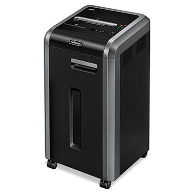 Fellowes Powershred 225Ci Continuous-Duty Cross-Cut Shredder, Black/Dark Silver