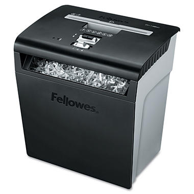 Fellowes - Powershred P-48C Deskside Cross-Cut Shredder -  8 Sheet Capacity