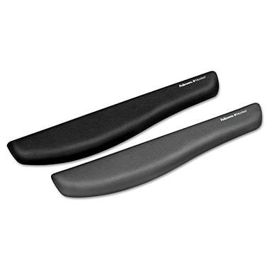 Fellowes PlushTouch Keyboard Wrist Rest, Foam, Graphite - 18-1/3