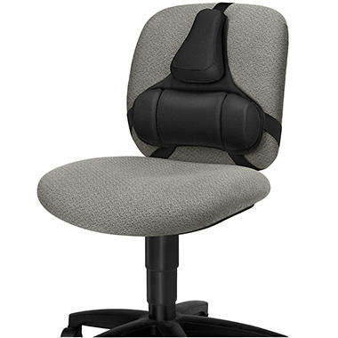 Fellowes Professional Series Back Support with Microban Protection, Black