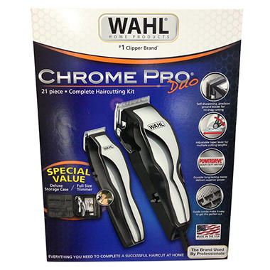 Wahl Chrome Pro Shaver & Trimmer Kit