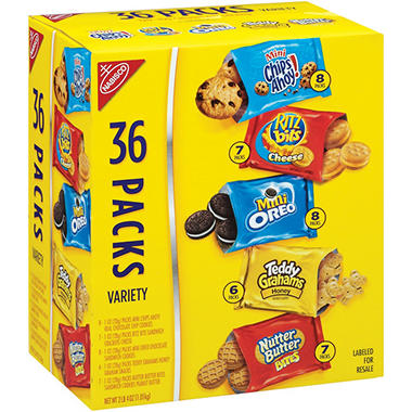 Nabisco Cookies & Crackers Variety Pack - 36 pk.