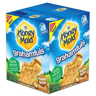 Honey Maid Grahamfuls Peanut Butter Filled Crackers - 21 oz. - 24 ct.