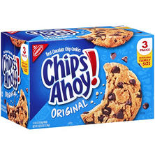 Chips Ahoy Cookies - 3-18.2oz packs